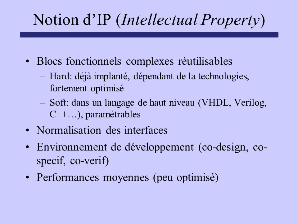 Notion d'IP (Intellectual Property)