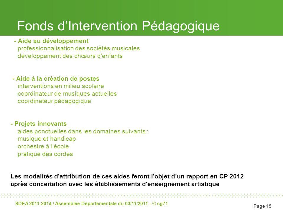 Fonds d'Intervention Pédagogique