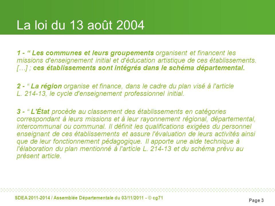 La loi du 13 août 2004