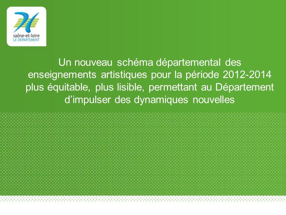 Un nouveau schéma départemental des enseignements artistiques pour la période 2012-2014 plus équitable, plus lisible, permettant au Département d'impulser des dynamiques nouvelles