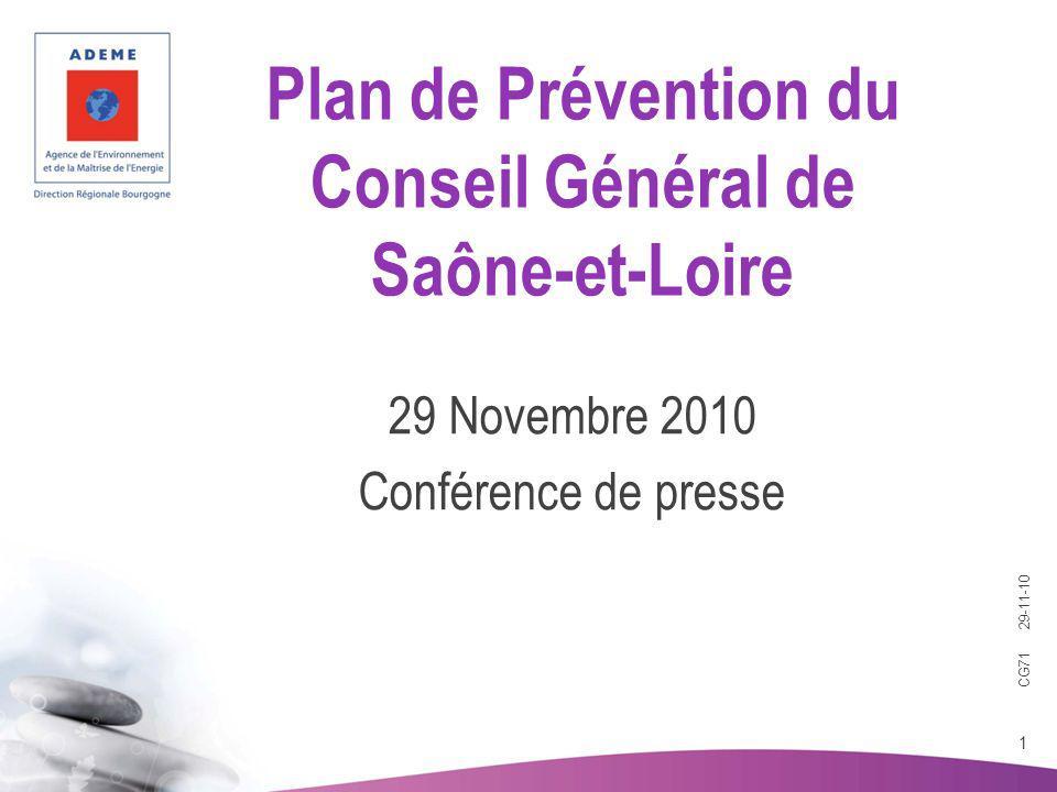 29 Novembre 2010 Conférence de presse