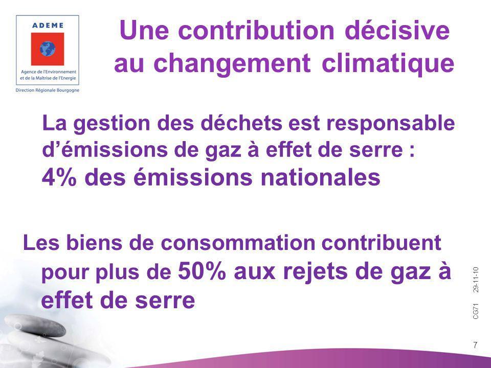 Une contribution décisive au changement climatique