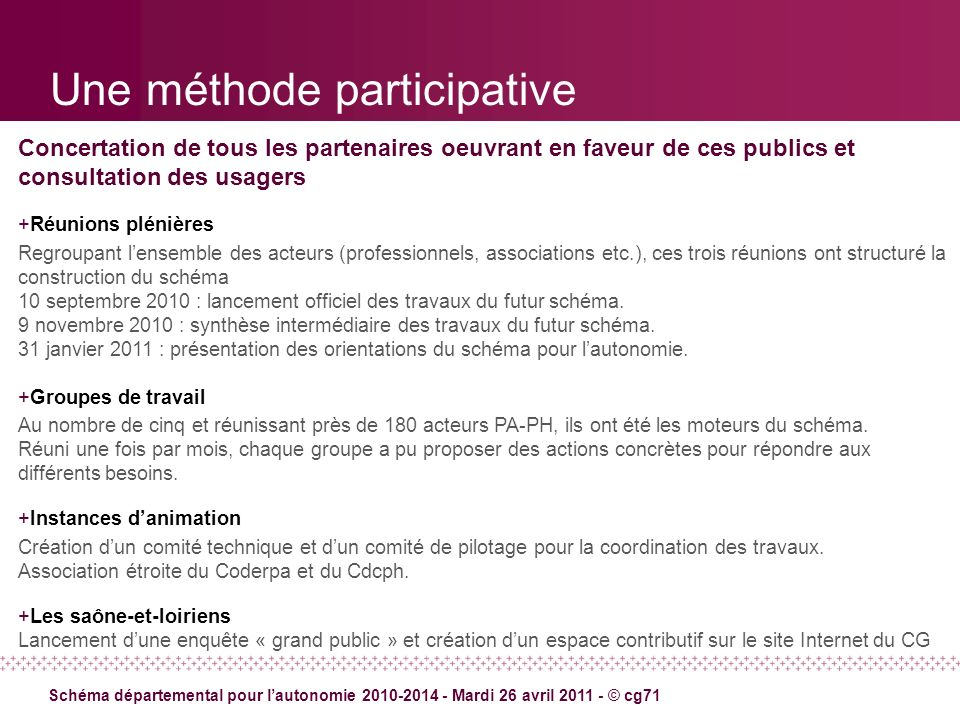 Une méthode participative