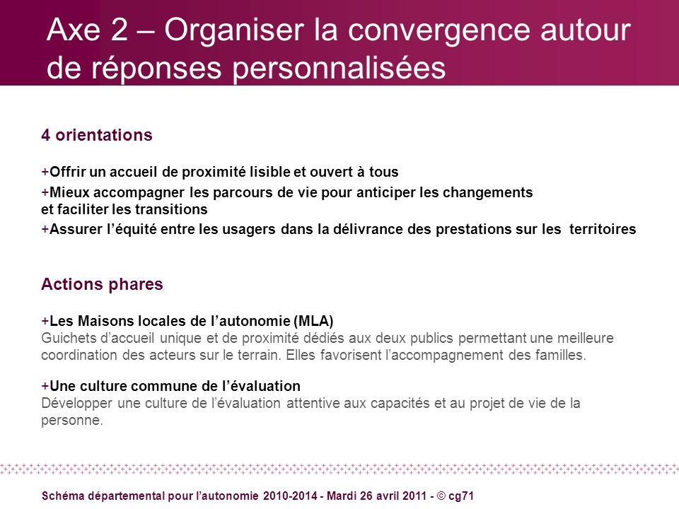 Axe 2 – Organiser la convergence autour de réponses personnalisées