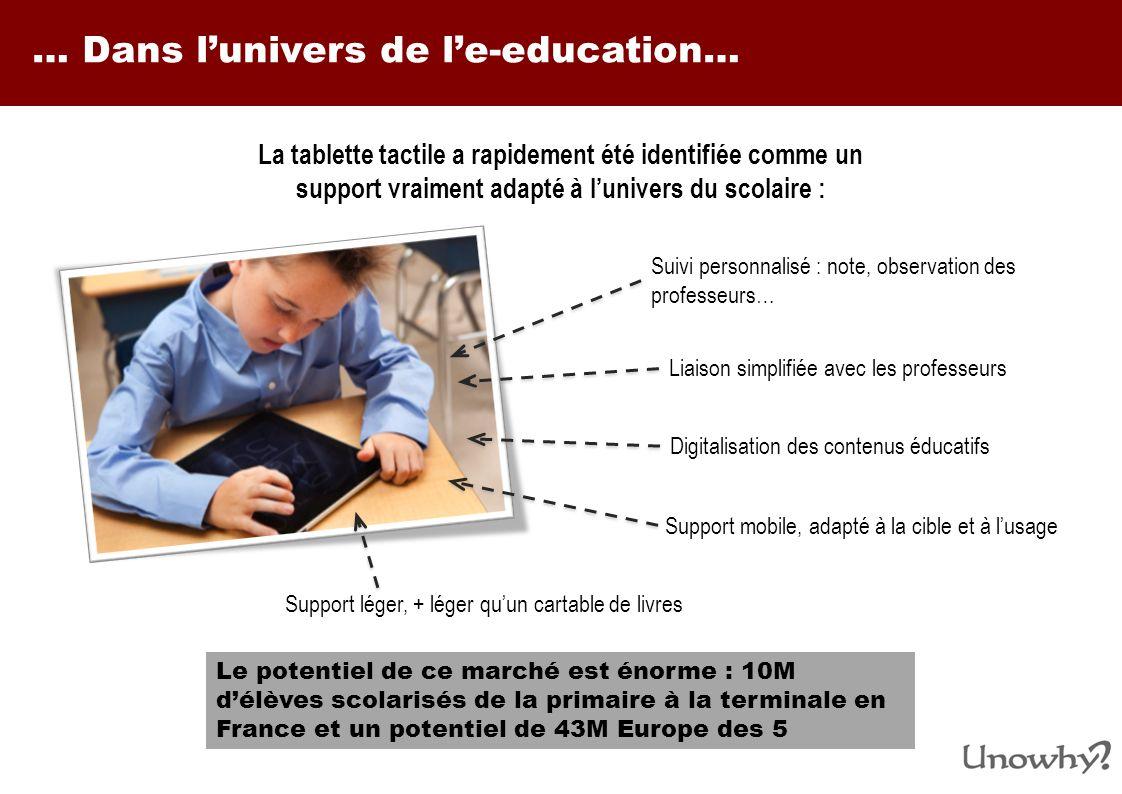 … Dans l'univers de l'e-education…