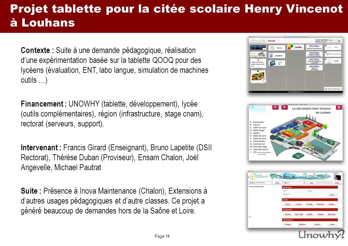 Projet tablette pour la citée scolaire Henry Vincenot à Louhans