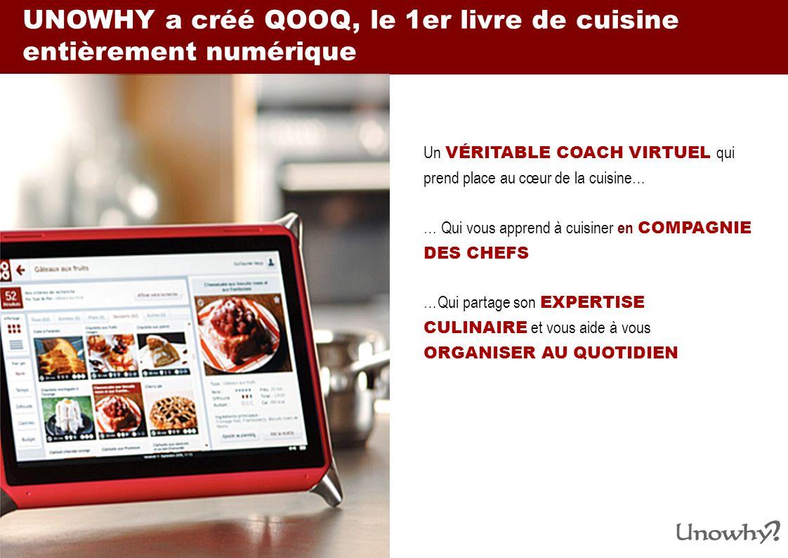 UNOWHY a créé QOOQ, le 1er livre de cuisine entièrement numérique