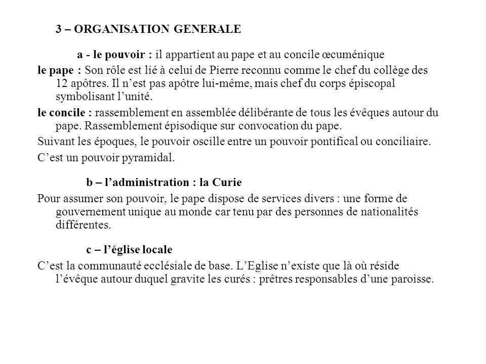 3 – ORGANISATION GENERALE