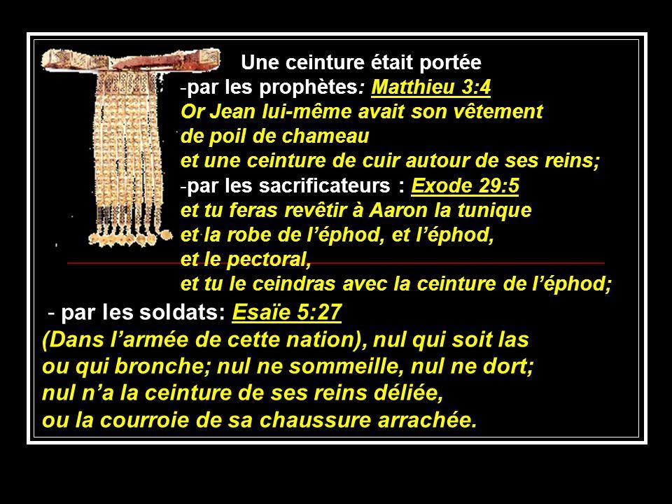 - par les soldats: Esaïe 5:27