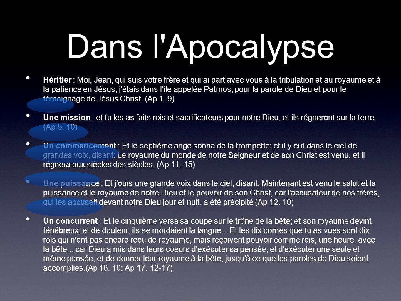 Dans l Apocalypse