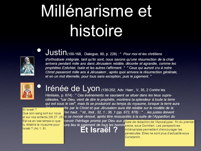 Millénarisme et histoire