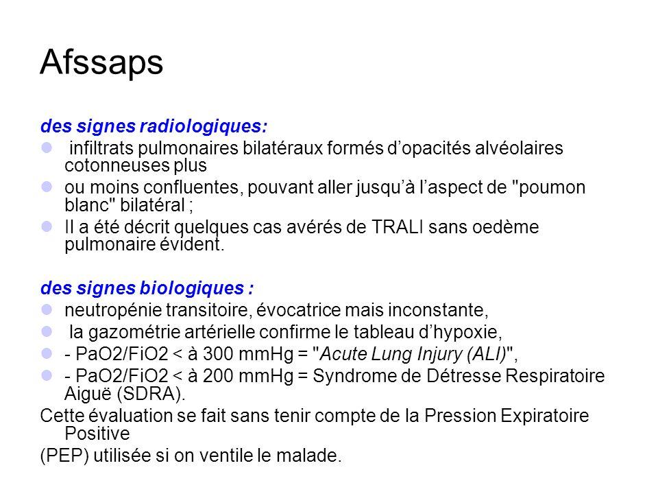 Afssaps des signes radiologiques: