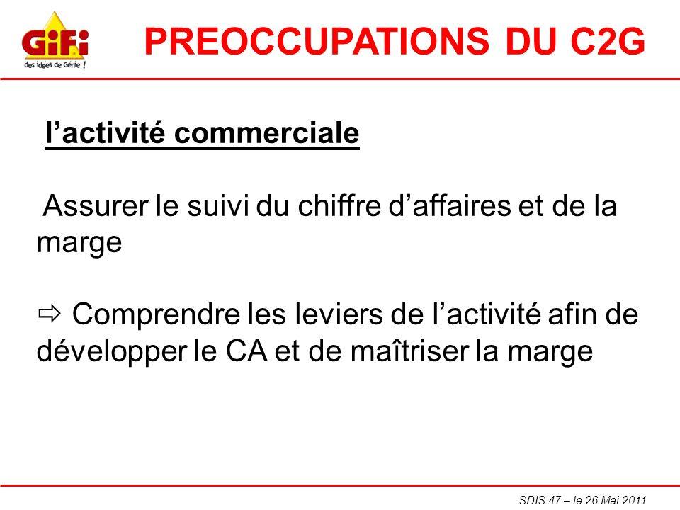 PREOCCUPATIONS DU C2G l'activité commerciale