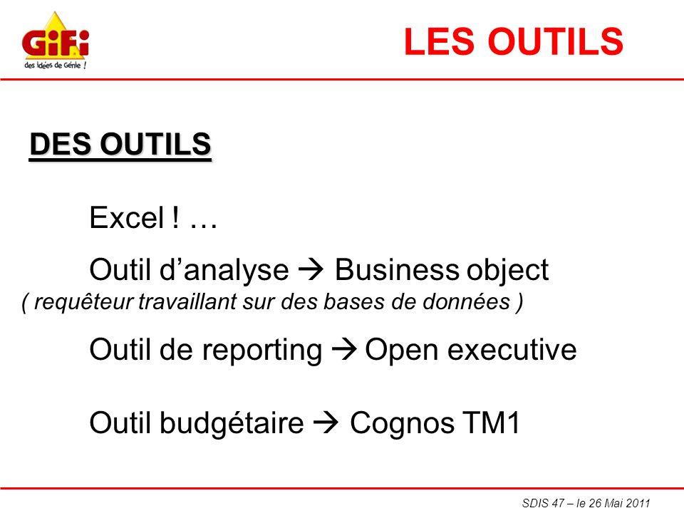 LES OUTILS DES OUTILS Excel ! …