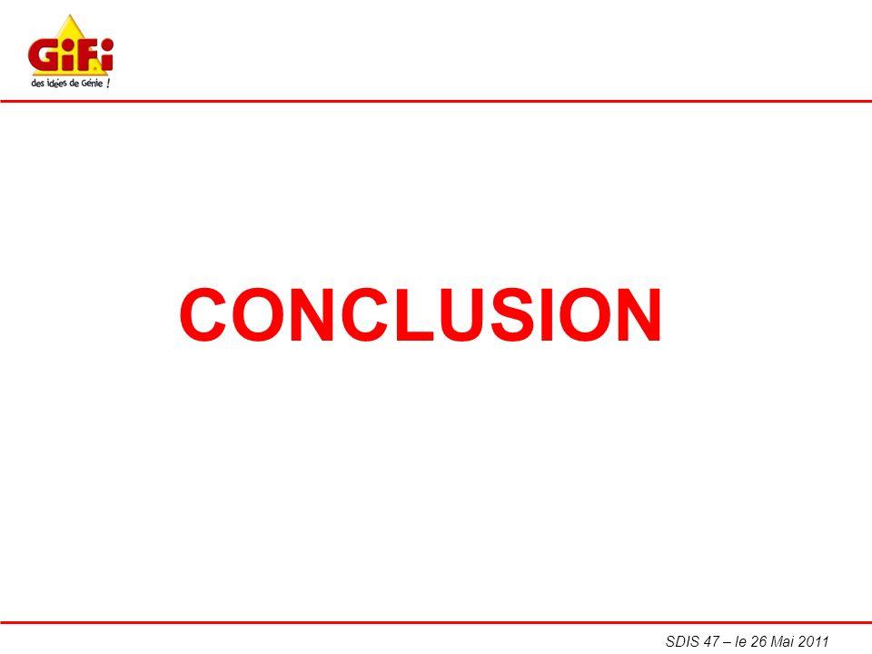 CONCLUSION SDIS 47 – le 26 Mai 2011