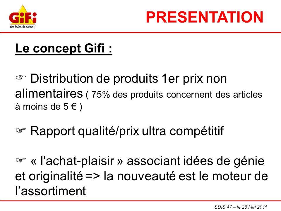 PRESENTATION Le concept Gifi :