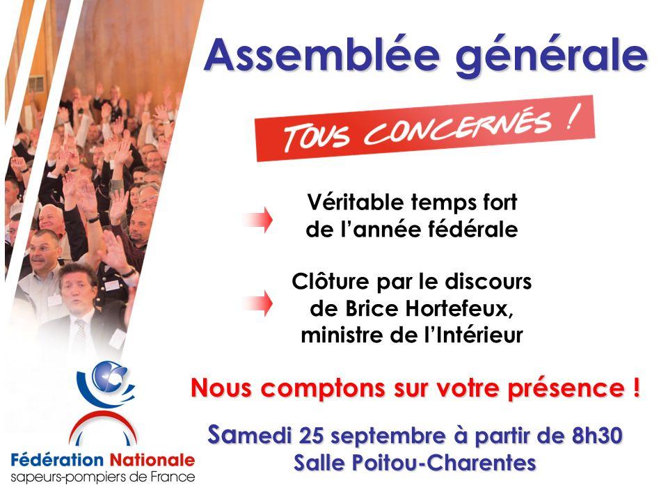 Assemblée générale Nous comptons sur votre présence !