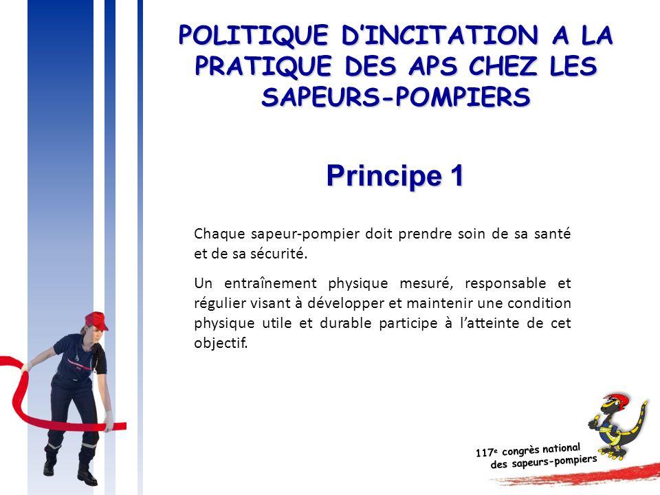 POLITIQUE D'INCITATION A LA PRATIQUE DES APS CHEZ LES SAPEURS-POMPIERS