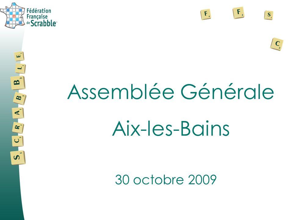 Assemblée Générale Aix-les-Bains 30 octobre 2009