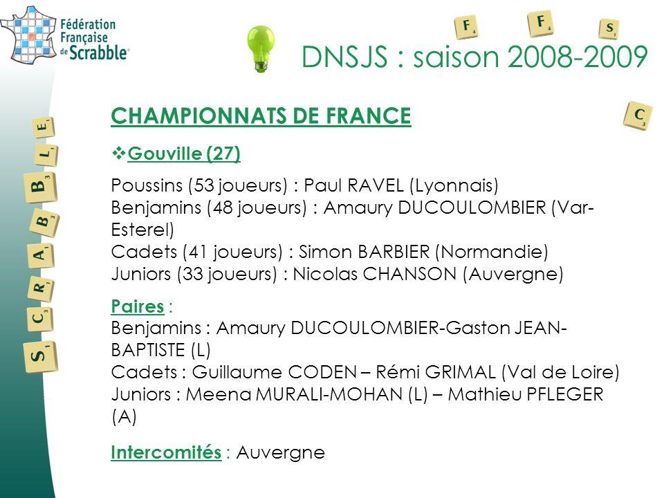 DNSJS : saison 2008-2009 CHAMPIONNATS DE FRANCE Gouville (27)