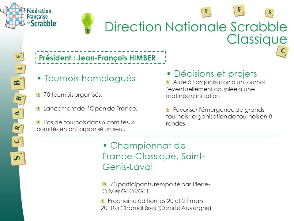 Direction Nationale Scrabble Classique
