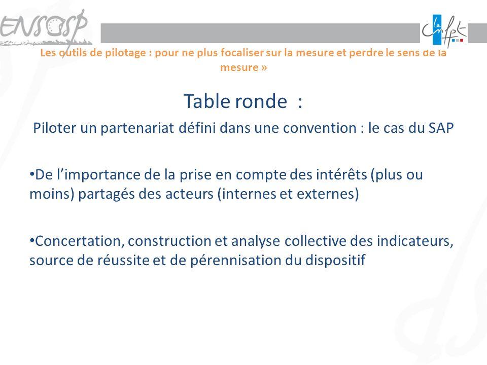 Piloter un partenariat défini dans une convention : le cas du SAP