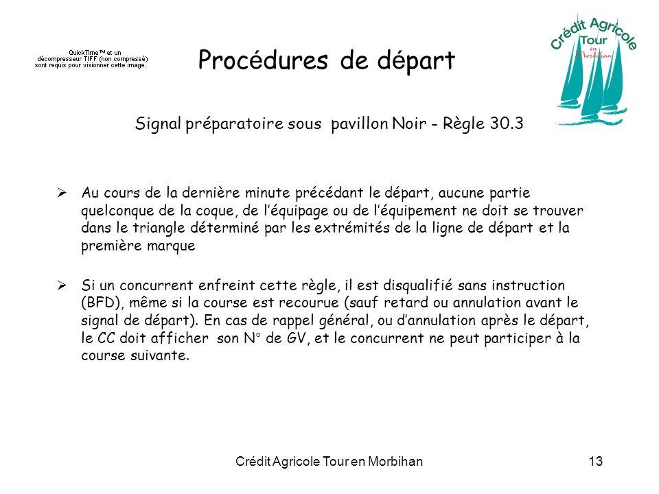Procédures de départ Signal préparatoire sous pavillon Noir - Règle 30.3.