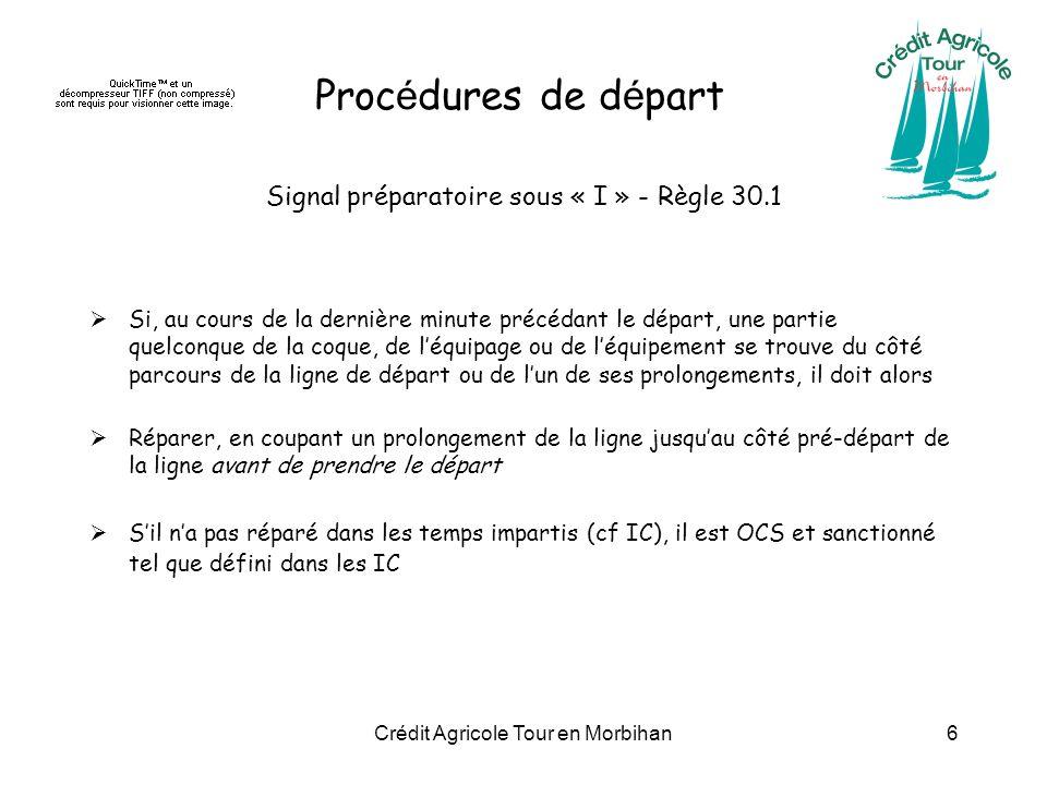 Procédures de départ Signal préparatoire sous « I » - Règle 30.1