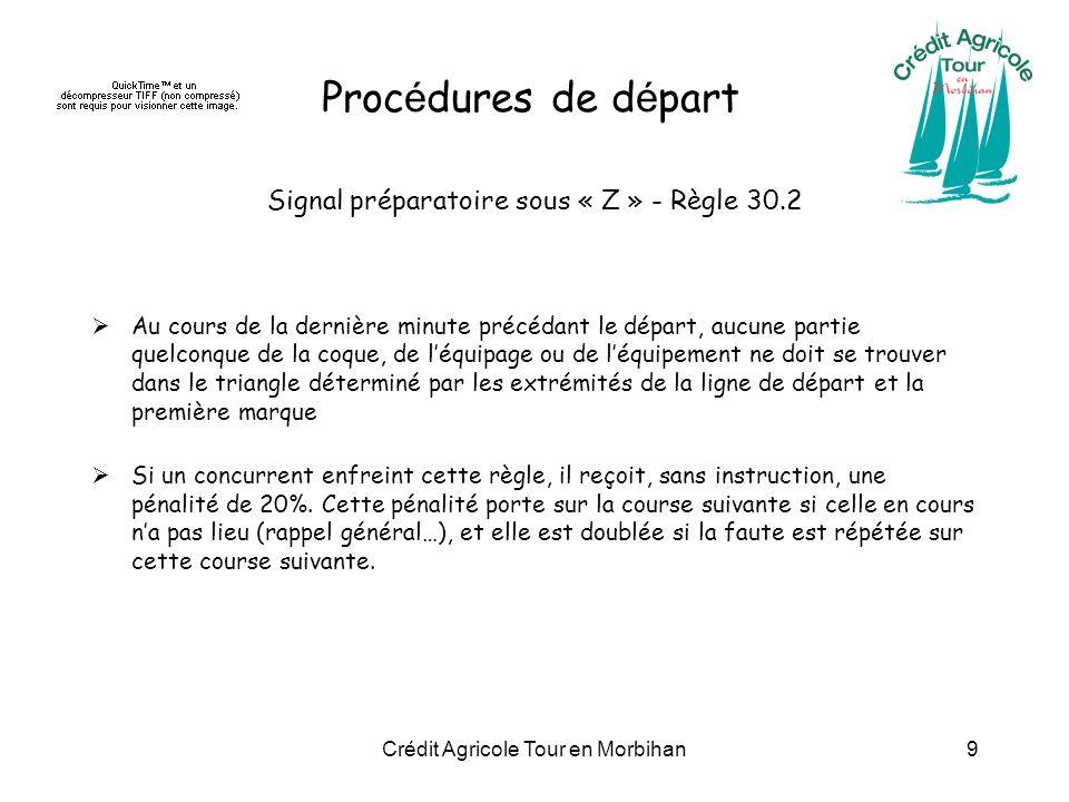 Procédures de départ Signal préparatoire sous « Z » - Règle 30.2