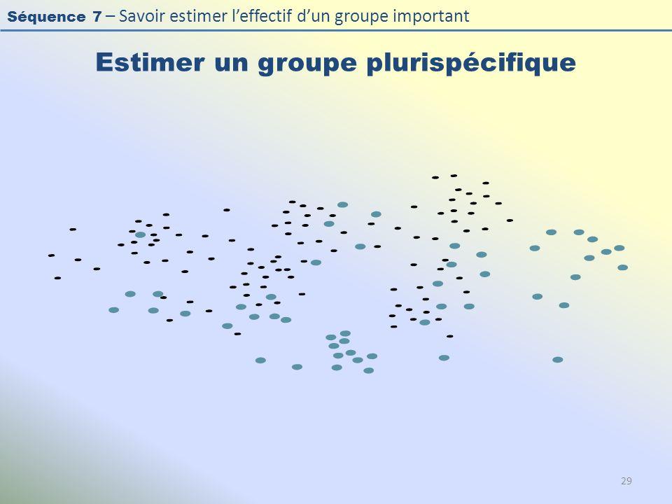 Estimer un groupe plurispécifique