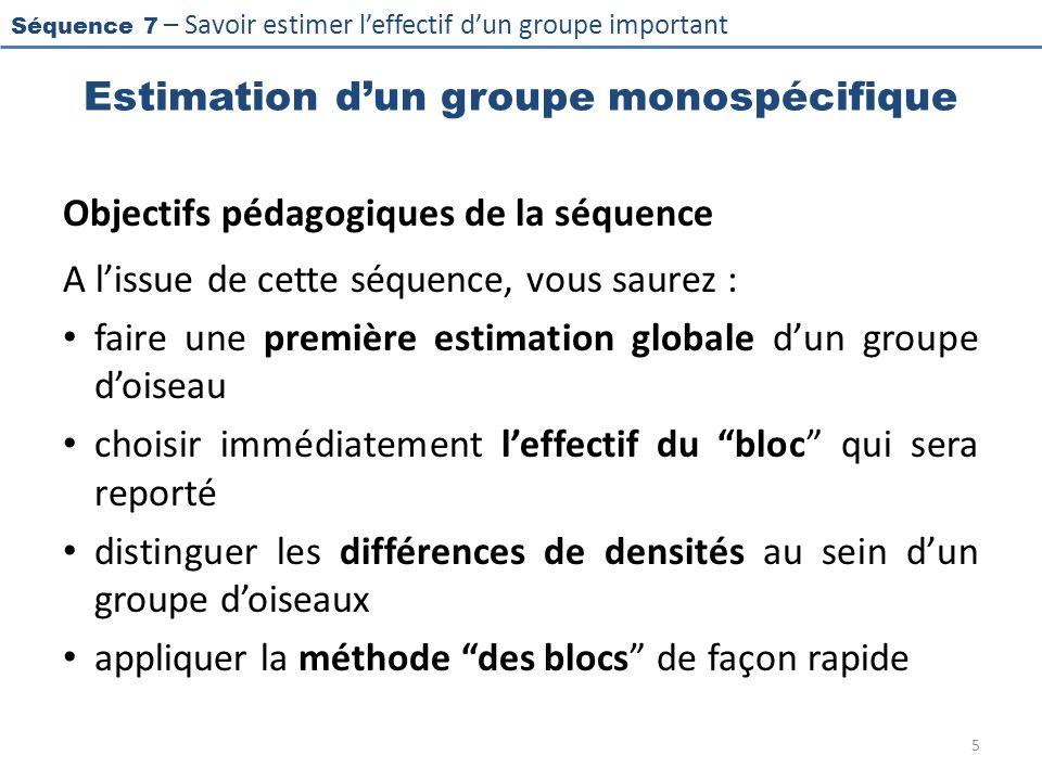 Estimation d'un groupe monospécifique