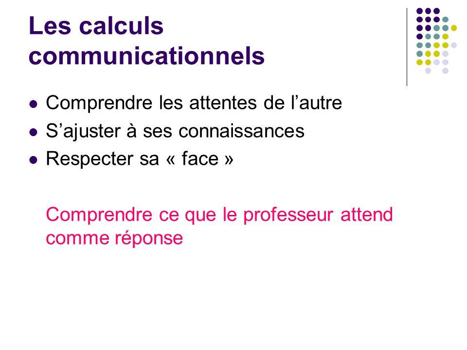 Les calculs communicationnels