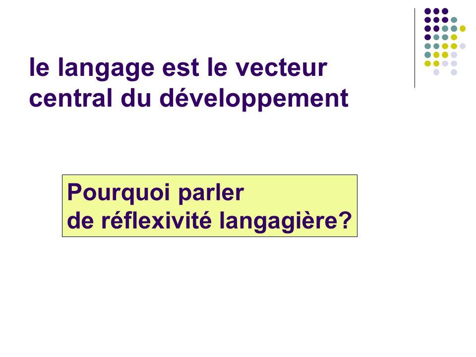 le langage est le vecteur central du développement