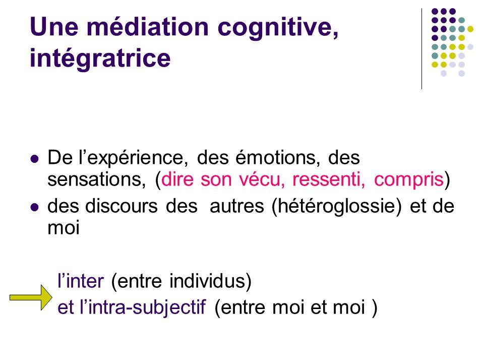 Une médiation cognitive, intégratrice