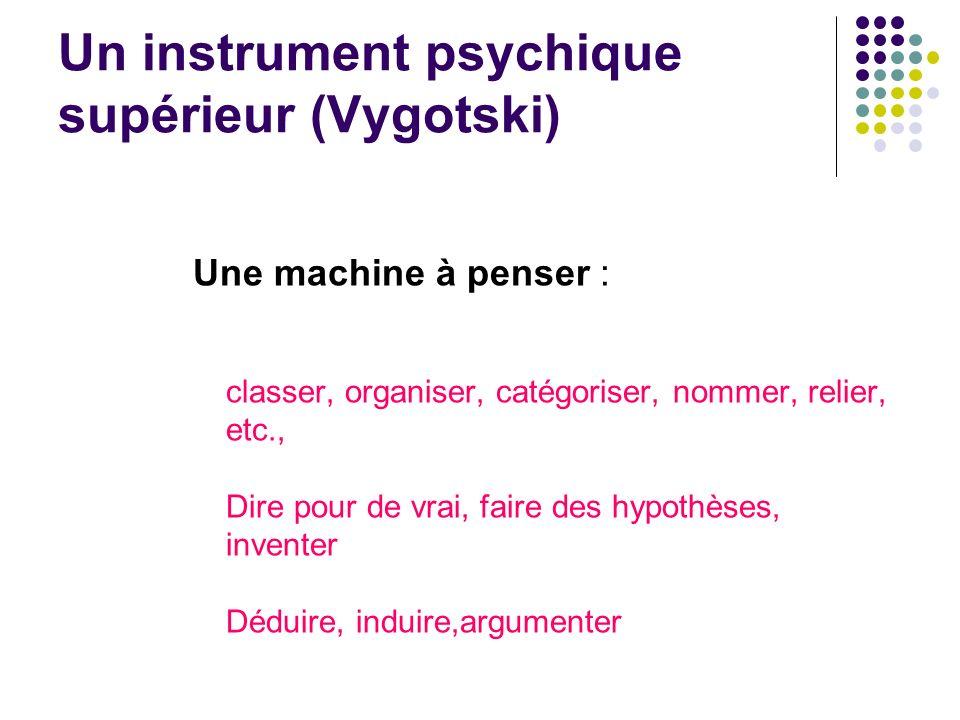Un instrument psychique supérieur (Vygotski)