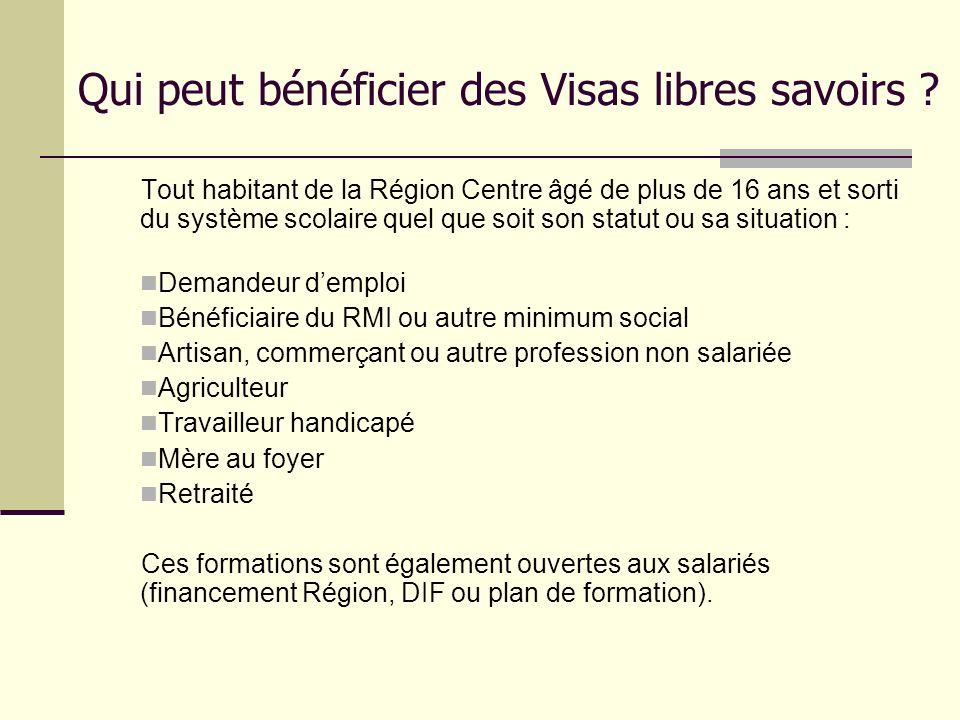 Qui peut bénéficier des Visas libres savoirs