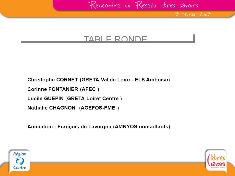 TABLE RONDE Christophe CORNET (GRETA Val de Loire - ELS Amboise)
