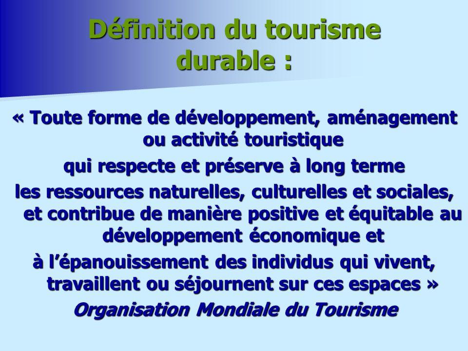 Définition du tourisme durable :