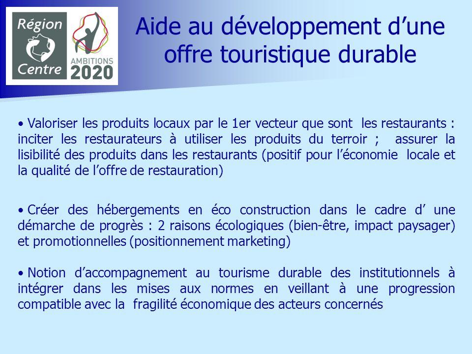 Aide au développement d'une offre touristique durable