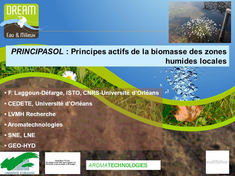 PRINCIPASOL : Principes actifs de la biomasse des zones humides locales