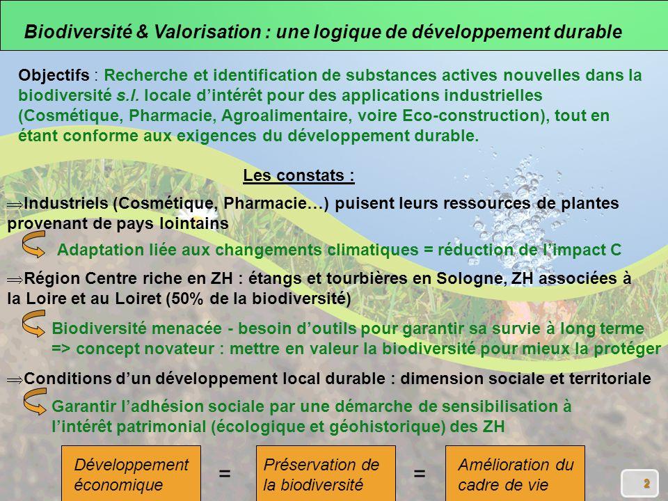 = Biodiversité & Valorisation : une logique de développement durable