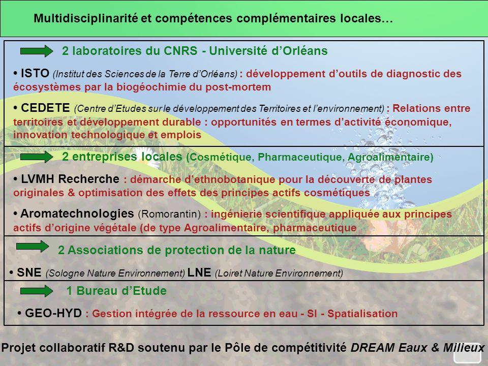 Multidisciplinarité et compétences complémentaires locales…