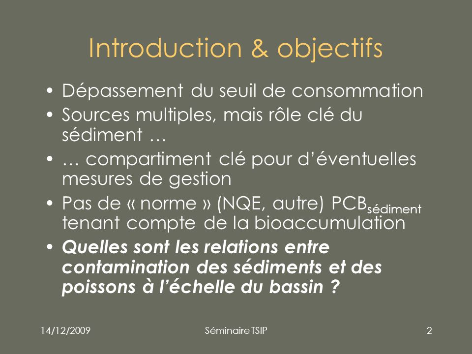 Introduction & objectifs