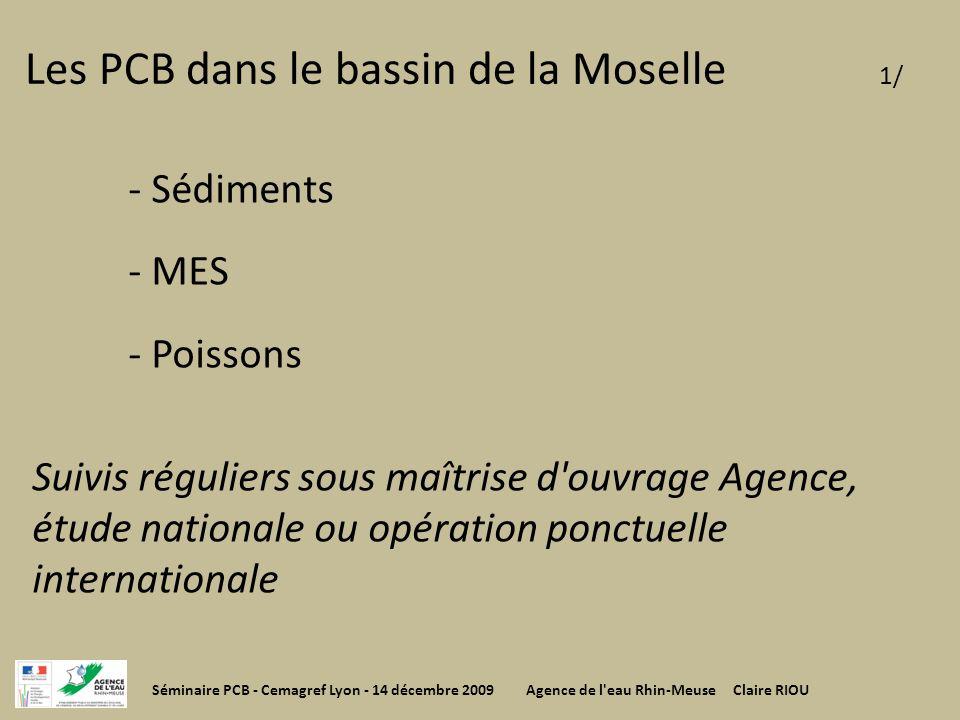 Les PCB dans le bassin de la Moselle 1/