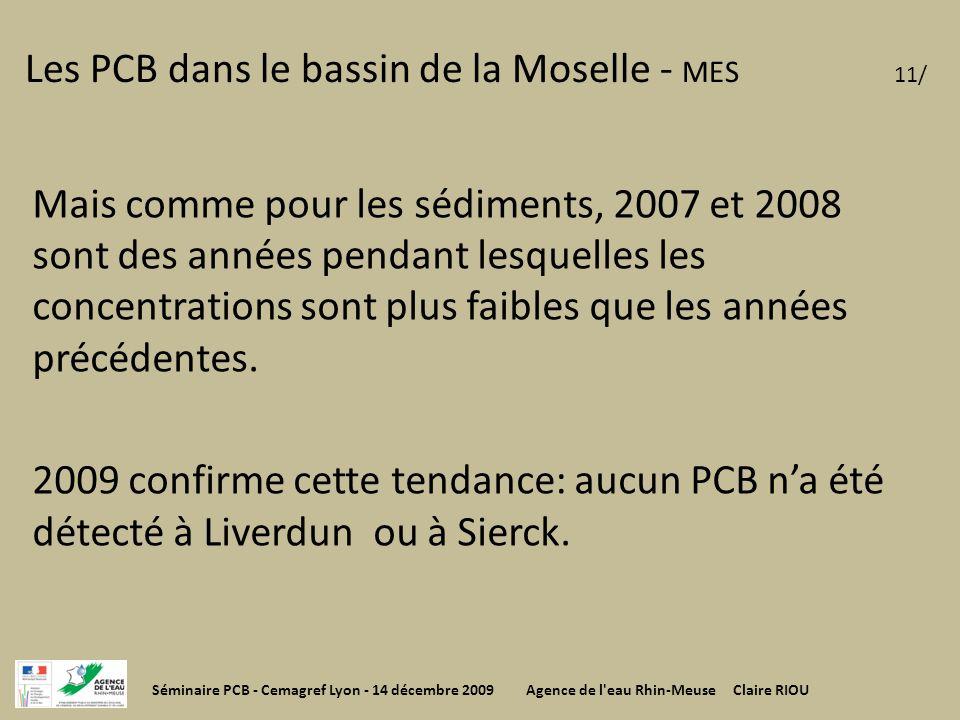 Les PCB dans le bassin de la Moselle - MES 11/