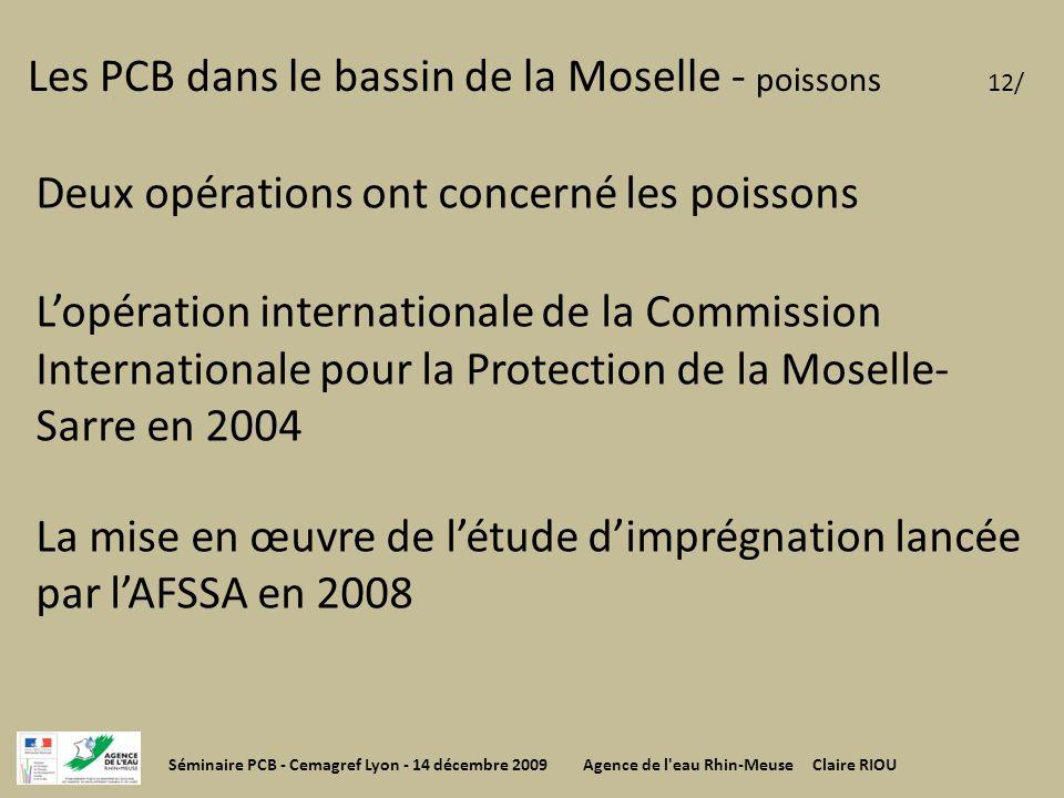 Les PCB dans le bassin de la Moselle - poissons 12/