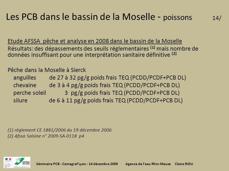 Les PCB dans le bassin de la Moselle - poissons 14/