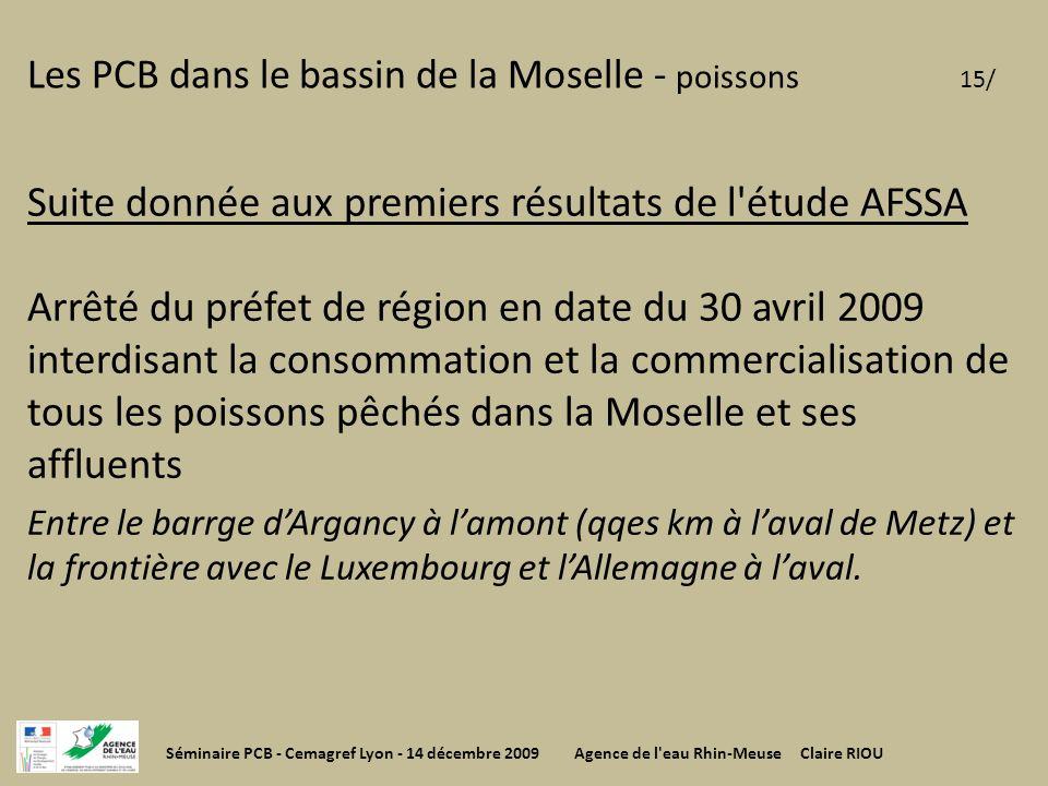 Les PCB dans le bassin de la Moselle - poissons 15/
