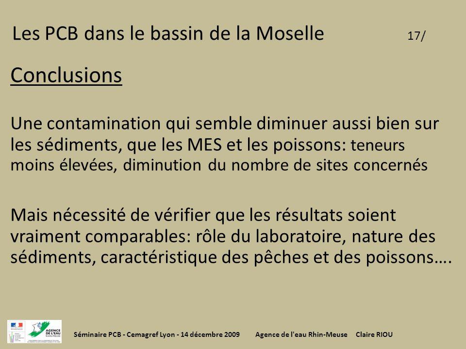 Les PCB dans le bassin de la Moselle 17/