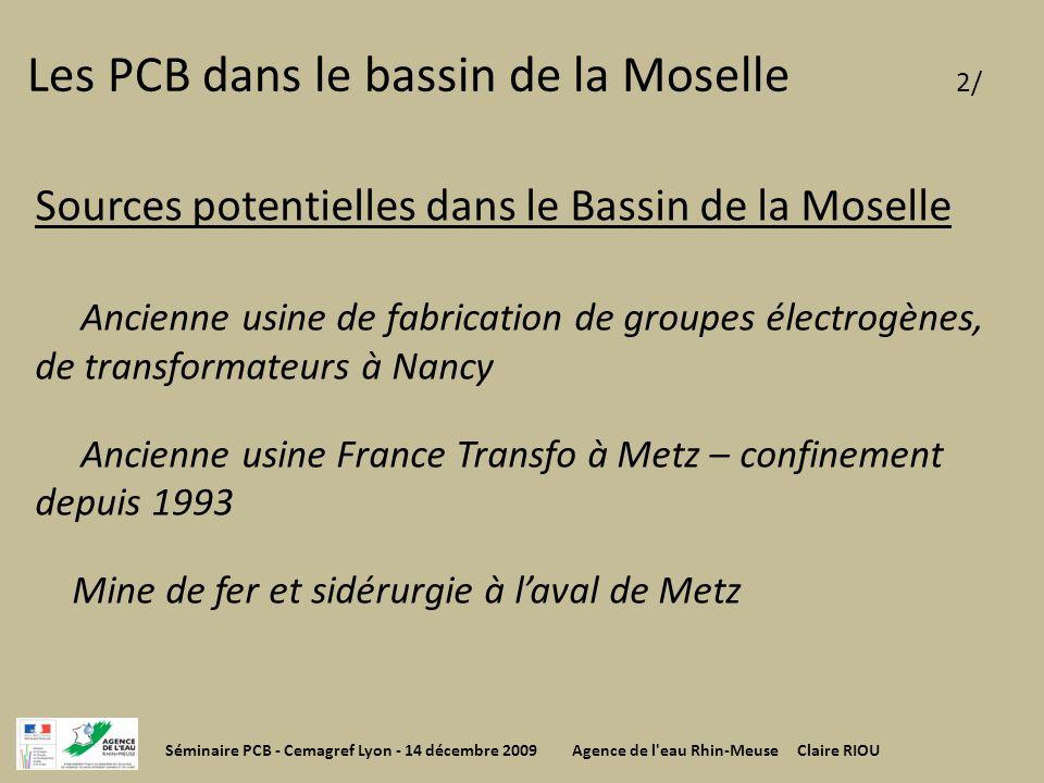 Les PCB dans le bassin de la Moselle 2/